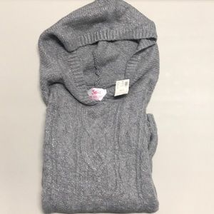 NWT Girls Justice Hooded Long Sleeve Sweater